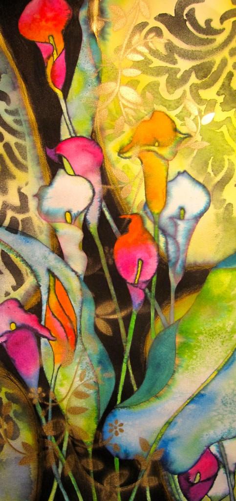 Callas for Fun 10x22 Original Watercolor