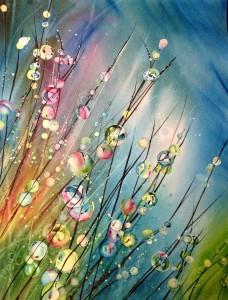 """""""Dew Drops"""" 16x20 Watercolor Original $300"""