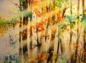Fall In Light 11x15 Original Watercolor