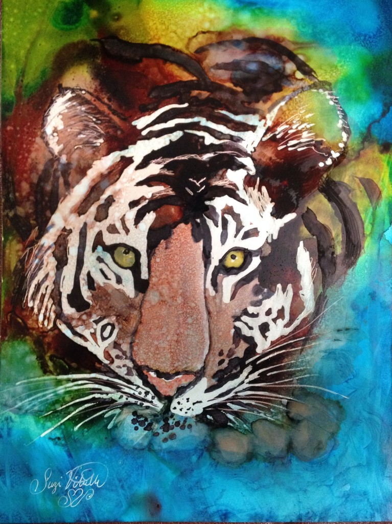 Inks by Suzi Vitulli Alcohol Ink on Yupo 8x10