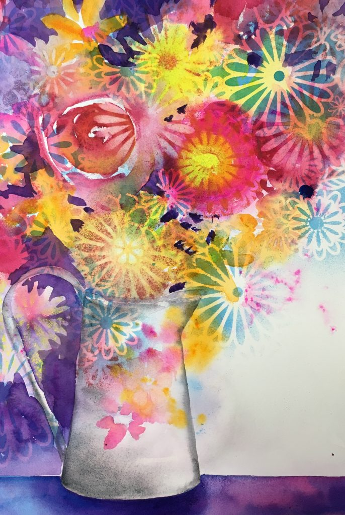 This image has an empty alt attribute; its file name is Flower-Fantasy-Stencil-project-686x1024.jpeg